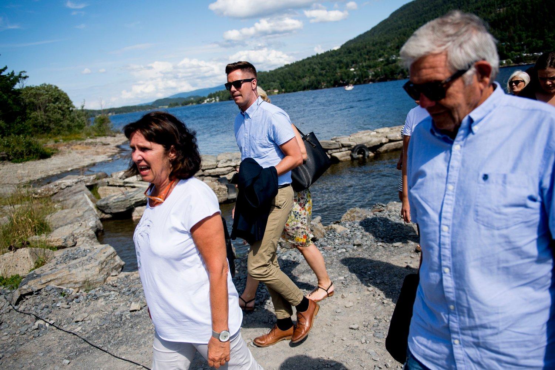 Utøya 20160722. Tidligere AUF-leder Eskil Pedersen ankom Utøya før minnemarkeringen fredag ettermiddag, fem år etter terrorangrepene 22. juli 2011.