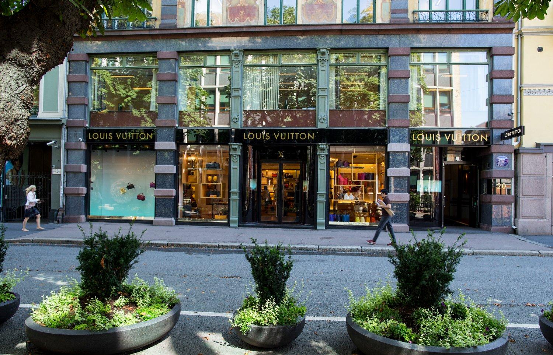 Louis Vuitton-butikken i Akersgata i Oslo. Butikken er nå flyttet til Nedre Slottsgate.