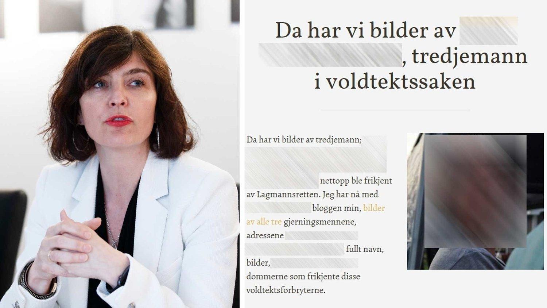 - SOSIALE MEDIER PÅ SITT VERSTE: Generalsekretær Kjersti Løken Stavrum sier at offentliggjøring av navn og bilder av de tre mennene i gjengvoldtektsaken, og de tre dommerne som frikjente dem, viser sosiale medier på sitt verste. Hun oppfordrer alle til å lese Vær Varsom Plakaten.