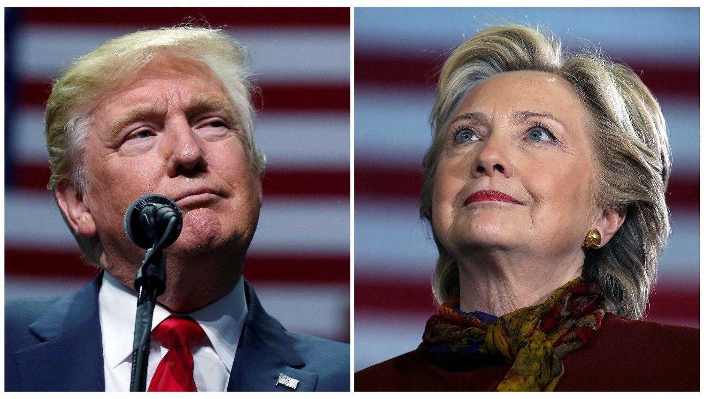 PRESIDENTVALG: Valget i USA er i full gang. Kampen står mellom republikanernes kandidat Donald J. Trump og demokratenes Hillary Clinton.