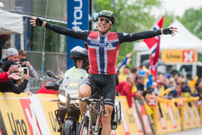 436eae3b GODE MINNER: Edvald Boasson Hagen viste muskler under Tour of Norway i 2016.