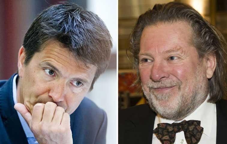 SLÅSS OM MARKEDSANDELER: Kampen om nordmenns dagligvarekroner var tøff i 2016. Rema 1000-toppene Ole Robert Reitan og pappa Odd Reitan klarer ikke henge med i svingene.