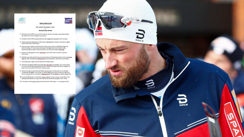 REGLER: Petter Northug og de andre norske utøverne har fått tilsendt spilleregler for hvordan de skal håndtere media og sosiale medier under VM i Lahti.