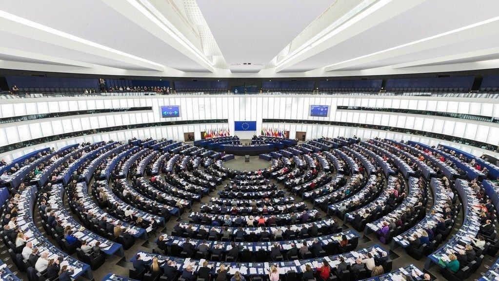 I det nye Stortinget er det et flertall som ønsker Norge ut av EU. Bildet: EU-parlamentet under en sesjon.