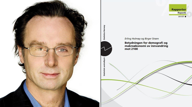 Erling Holmøy og SSB-rapport om innvandring mot 2100