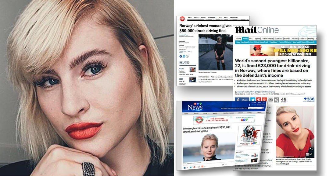 PROMILLEDOMMEN til Katharina G. Andresen er omtalt i flere av verdens største aviser.