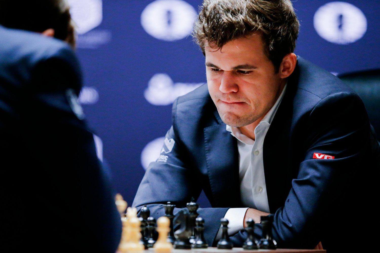 MILLIONGEVINST: Magnus Carlsen innkasserte 1,1 millioner for seieren i Grand Chess Tour.