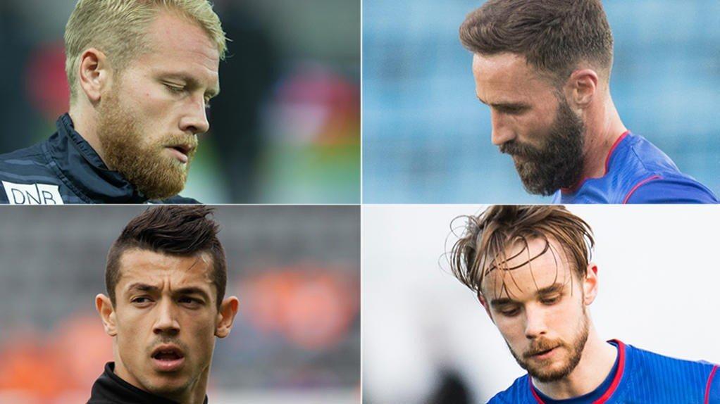 RYDDESALG: Henrik Kjelsrud Johansen, Magnus Lekven, Fitim Azemi og Daniel Berntsen går mot en usikker VIF-fremtid.