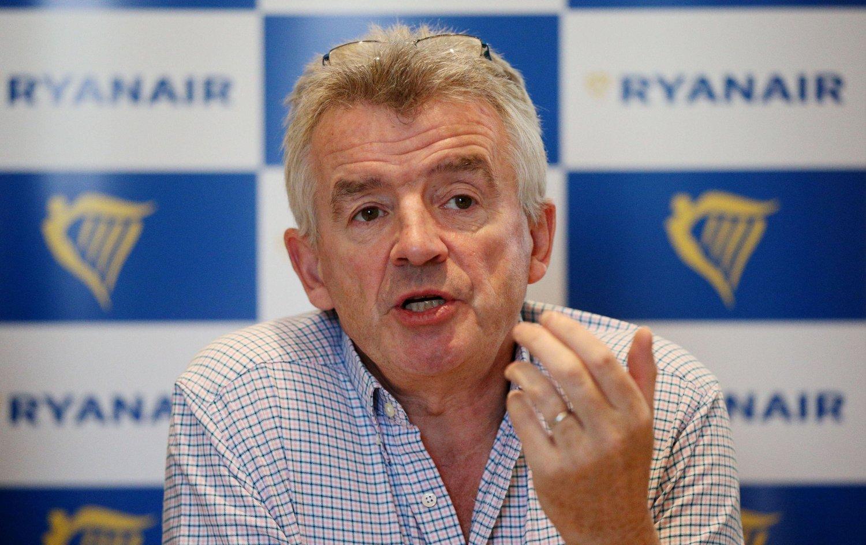 KAN GJØRE NORSK COMEBACK: Michael O'Leary i Ryanair åpner for å komme tilbake til Rygge.
