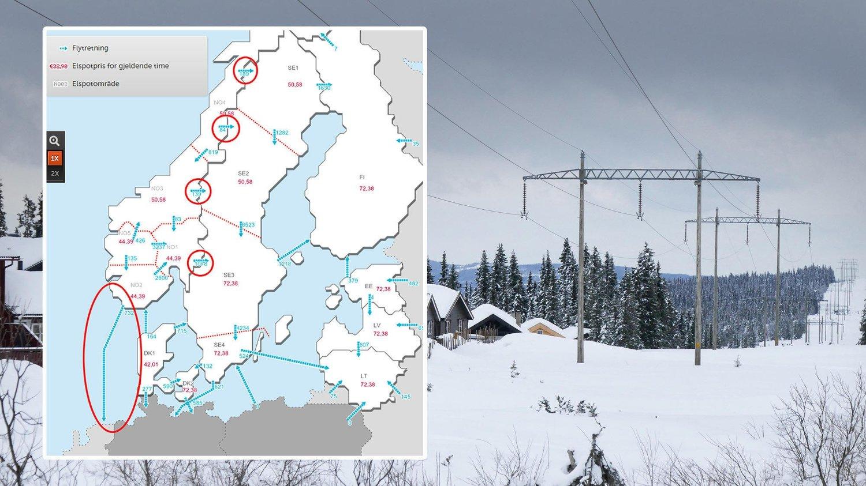 Mens strømprisene Norge er på rekordnivåer, sender Norge strømmen rett til utlandet. Spesielt går kablene til Nederland for full kapasitetsutnyttelse.