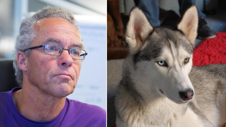 Rasmus Hansson (MDG) er både miljøforkjemper og eier av en huskey.