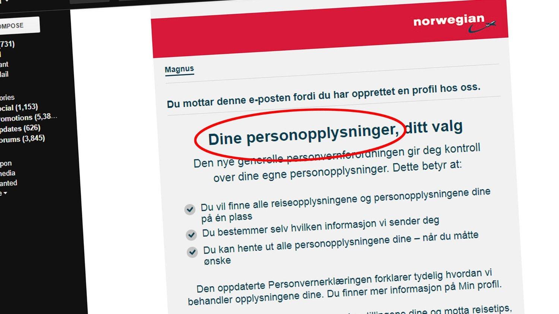 f8024c4a For tiden ruller det inne store mengder e-poster med spørsmål om nye  personvernsregler og