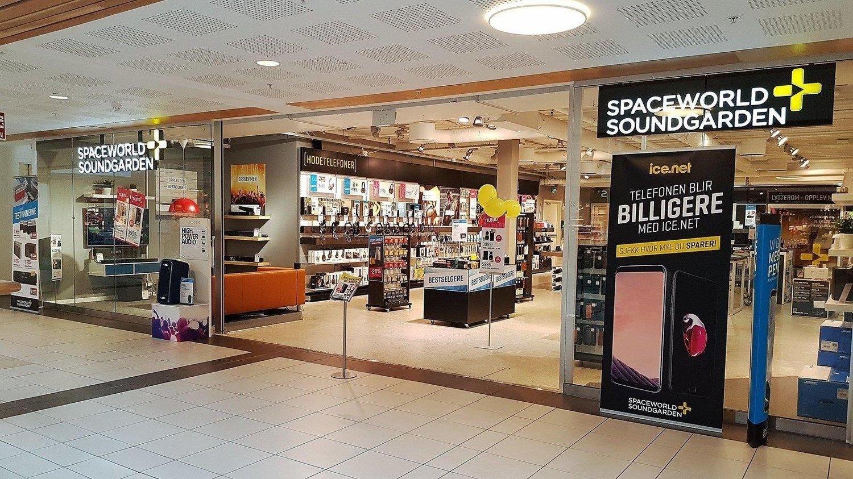 KONKURS: Spaceworld Soundgarden er konkurs. Dette bildet er tatt i butikken på Holmen i Asker.