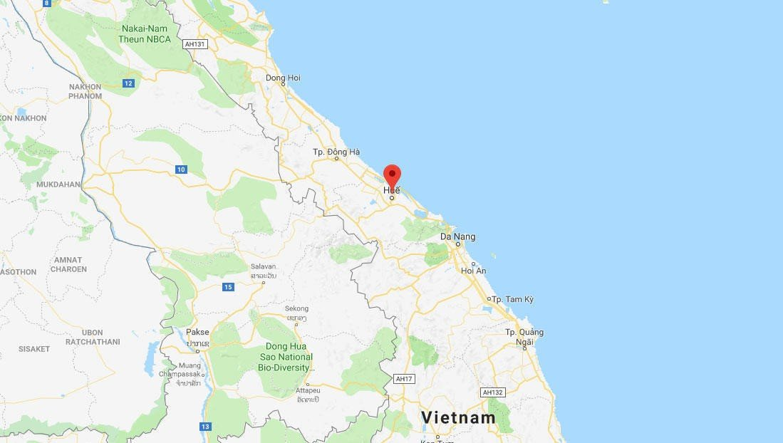 FUNNET DØD: En nordmann er funnet død i en elv i Hue i Vietnam.