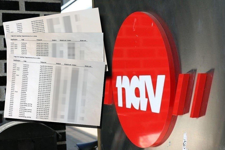 Loggene fra Nav viser at den tiltalte kvinnen, som var leder i Nav, søkte en rekke ganger på sine nærmeste naboer. Loggen viser 109 oppslag på en nabokvinnen. Hennes ektemann har flere titalls oppslag fra Nav-lederen i ulike systemer.