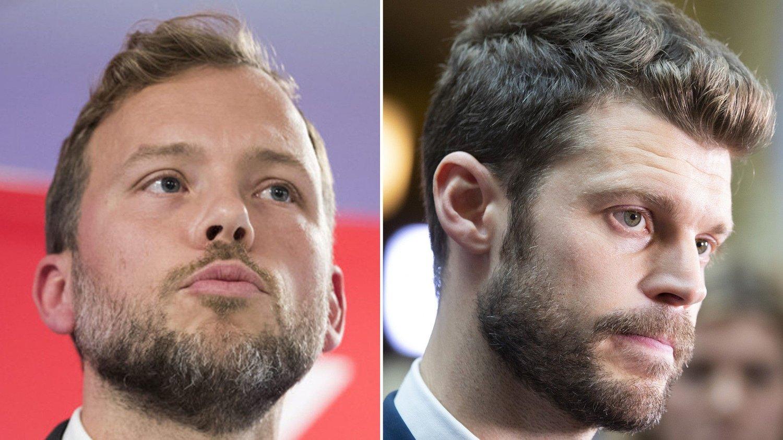 Både Audun Lysbakken og Bjørnar Moxnes er svørt kuffet over KrF-avgjørelsen.