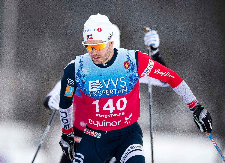 FIKK OPP FARTEN: Sjur Røthe imponerte på den avsluttende 15 -kilometeren på Beitostølen.