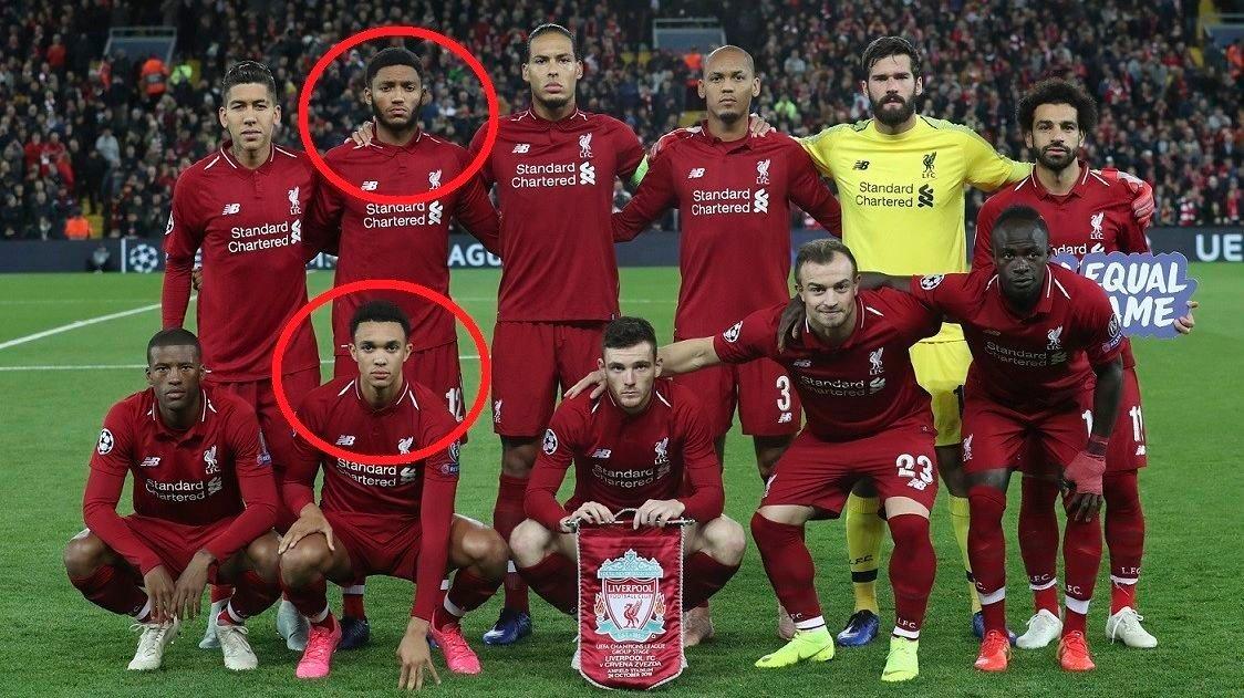 """TO AV ELLEVE: Joe Gomez og Trent Alexander Arnold var Liverpools eneste spillere som går under kategorien """"egenproduserte"""" i møtet med Røde Stjerne. Nå vil FA redusere grensen for ikke-egenproduserte spillere fra 17 til 13."""