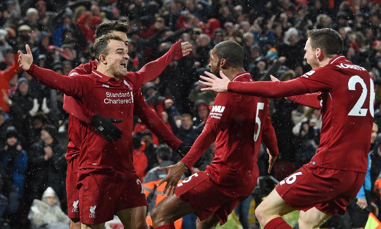JUBEL: Liverpool spilte ut Manchester United på Anfield.