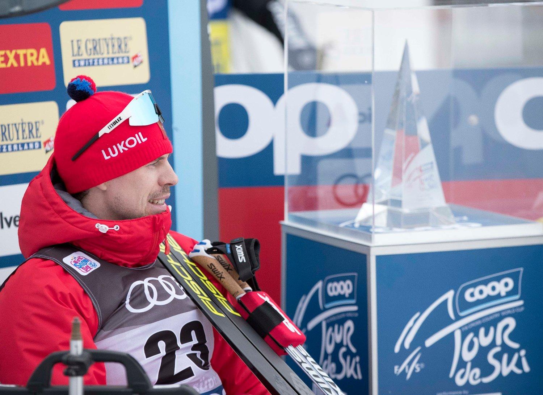 VANT: Sergej Ustjugov vant søndagens 15 kilometer i Toblach.