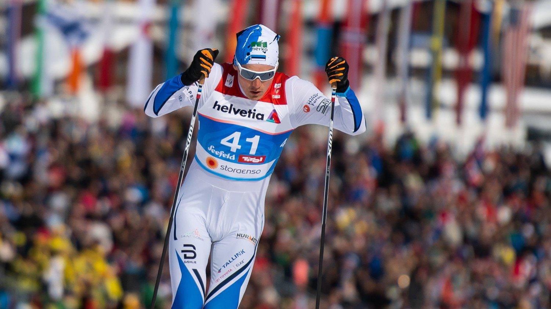 GIKK 30KM: Her går Karel Tammjärv 30-kilometeren under VM.