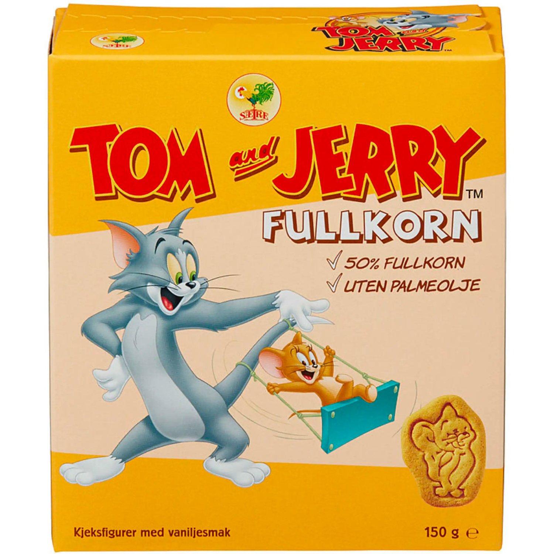 KOMMER DÅRLIGST UT:Tom & Jerry Fullkorn topper listen over kjeks med det kreftfremkallende stoffet akrylamid. Vanlig Tom & Jerry, Mariekjeks og Bixit følger etter.