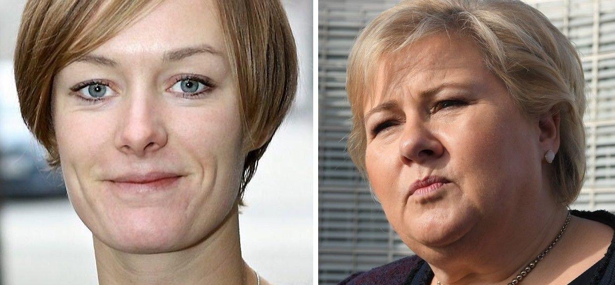 Aps Anette Trettebergstuen (til venstre) vil fra Stortingets talerstol kreve beklagelse fra statsminister Erna Solberg etter sistnevntes kritikk av teaterstykket «Ways of Seeing».
