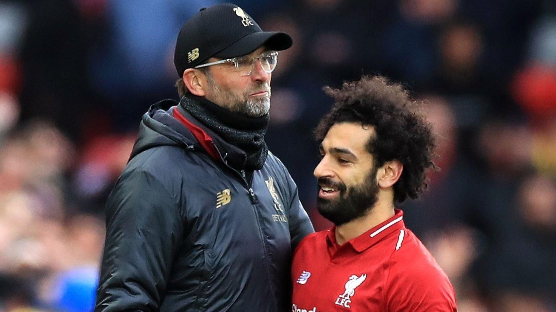 KLOPP OG SALAH: Ifølge spanske aviser skal forholdet mellom Klopp og Salah ha surnet.