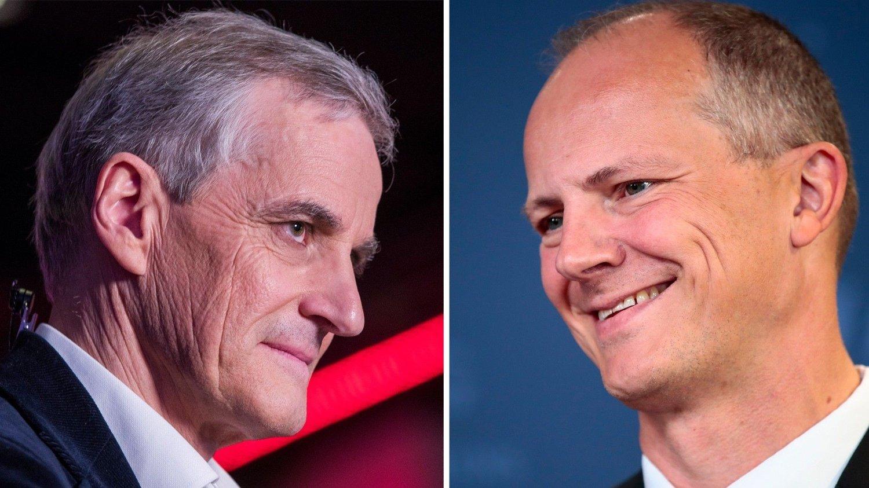 UENIGE: Den tidligere samferdselsministeren og nestlederen i Fremskrittspartiet, Solvik-Olsen (t.h),reagerer kraftig på hva Støre uttale om bompenger.