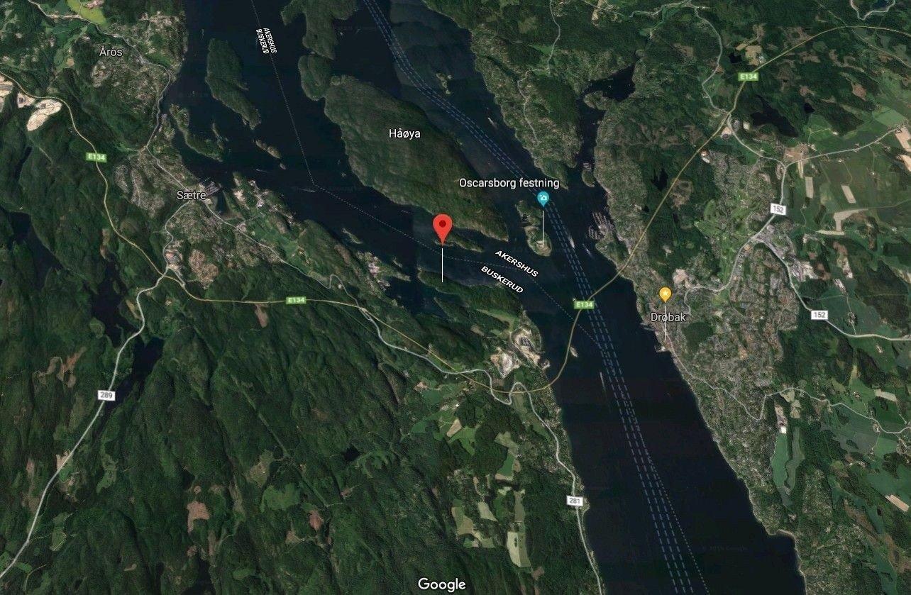 Ulykken skjedde på Kinnartangen i Hurum.