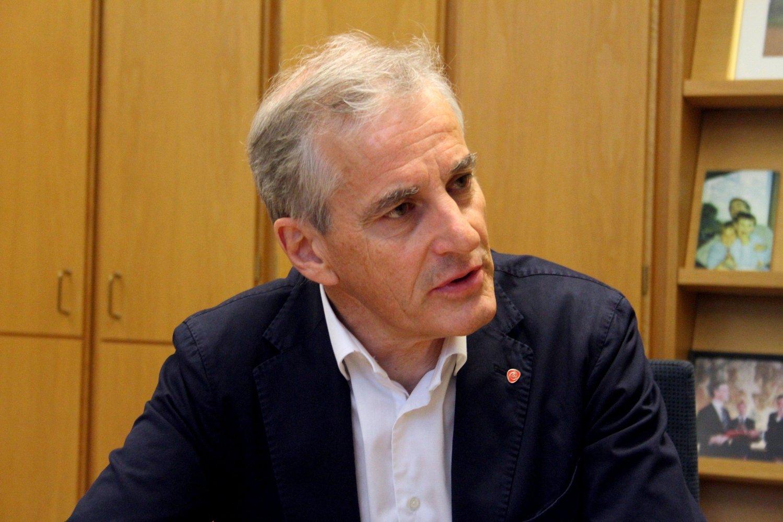 Ap-leder Jonas Gahr Støre. Stortinget, 10. mai 2019.