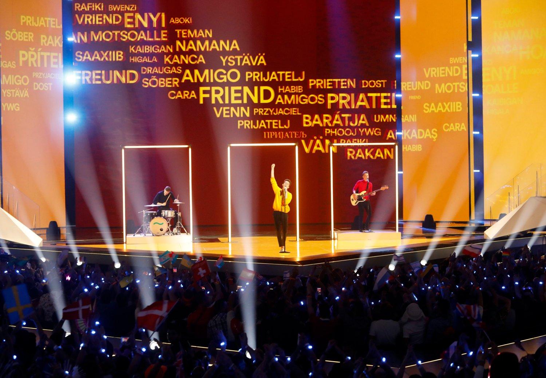 Lake Malawi som representerer Tsjekkia fikk 12 poeng fra Norge. De deltar med låten «Friend of a Friend». Foto: AP / NTB scanpix