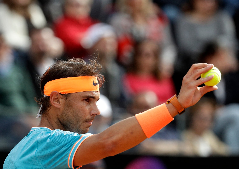 Rafael Nadal vant Masters turneringen i Roma. Foto: AP Photo / Gregorio Borgia / NTB scanpix