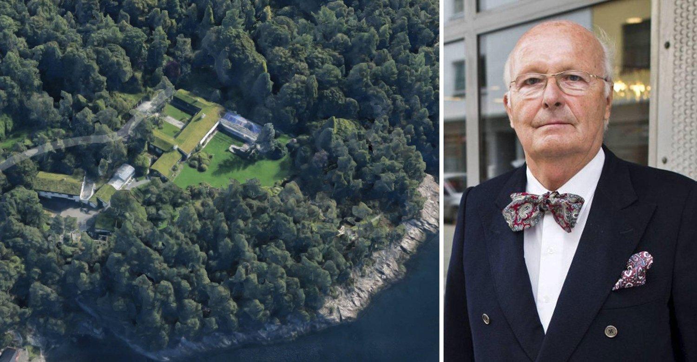 SELGER: Bjarne Rieber selger Rieber Garden i Fana utenfor Bergen.