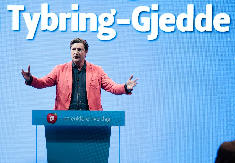 Christian Tybring-Gjedde under valget på Frps landsmøte tidligere i år. Foto: Lise Åserud / NTB scanpix
