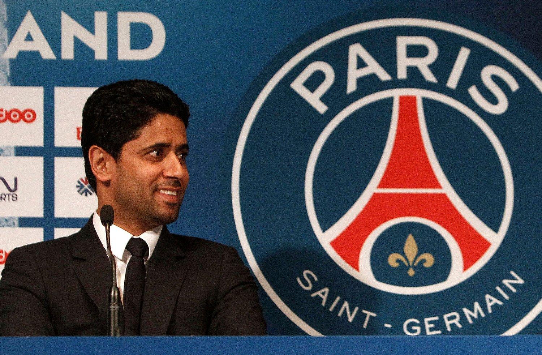 Nasser al-Khelaifi er siktet for korrupsjon. 45-åringen er styreleder og administrerende direktør i den franske fotballklubben Paris Saint-Germain. Foto: Thibault Camus / AP / NTB scanpix