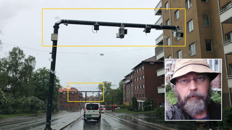 INNESTENGT: Torfinn Ørmen blir «stengt inne» av to nye bomstasjoner i Fagerheimgata i Oslo fra 1. juni, og må betale hver gang han kjører ut.