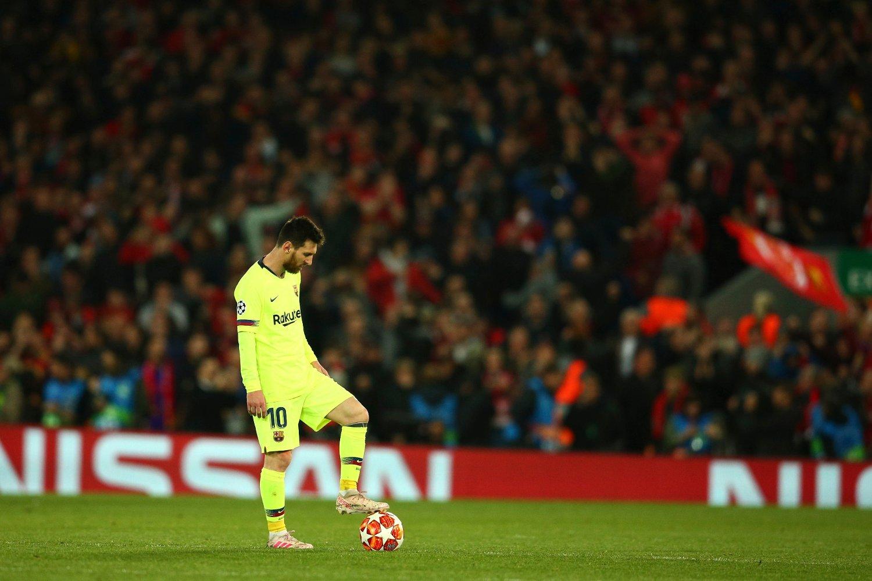 Lionel Messi fikk en blytung kveld på jobb da hans Barcelona ble slått ut av mesterligaen av Liverpool tidligere denne måneden. Foto: Dave Thompson / AP / NTB scanpix