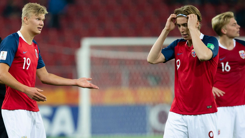 474d8fb0 NYTT TAP: Norges Erling Haaland og Kristian Thorstvedt måtte nok en gang  konstatere et nederlag