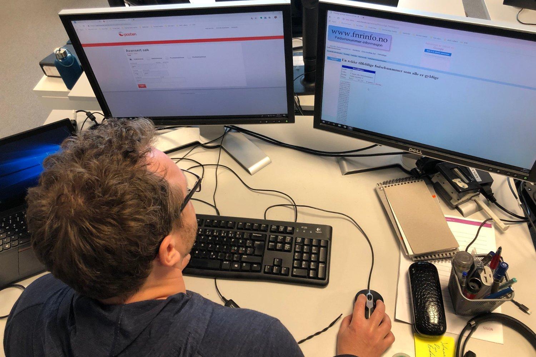 FINNER INFORMASJON: Flere nettsider gir informasjon som kan brukes til å svindle deg. En av dem, genererer mulige fødselsnumre. Posten Norge sier de vil fjerne funksjoner etter at Nettavisen ba om kommentar på denne saken.