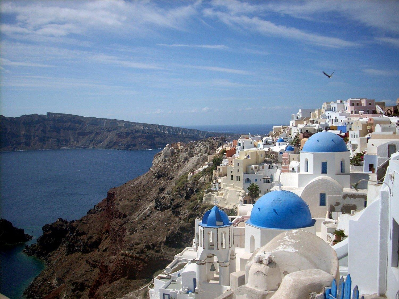 POPULÆRT: Santorini i Hellas har blitt et populært reisemål de siste årene.