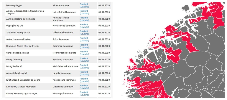 NYTT KART: Nettavisens interaktive kart viser alle de nye kommunene som opprettes fra 2020. Disse nye enhetene må velgerne forholde seg til ved valget 9. september i år.