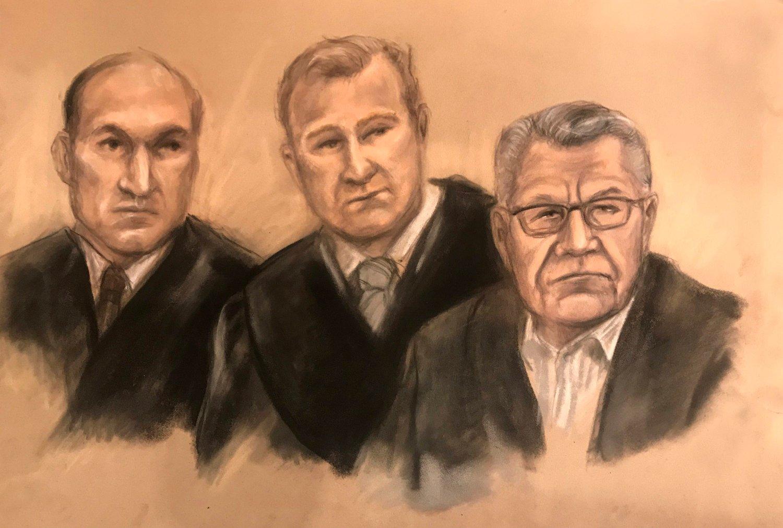Ludvigsens forsvarere Kai Vaag (til venstre) og Per Zimmer sto for utspørringen av den hovedfornærmede under den andre dagen av rettssaken mot Svein Ludvigsen (t.h).