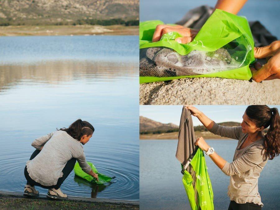 Med den bærbare vaskemaskinen er vann og vaskemiddel det eneste du trenger for å rengjøre klærne dine.