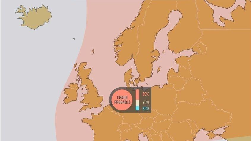 VARMERE?: Ifølge Meteo France går det mot en varmere sommer enn vanlig i store deler av Europa.