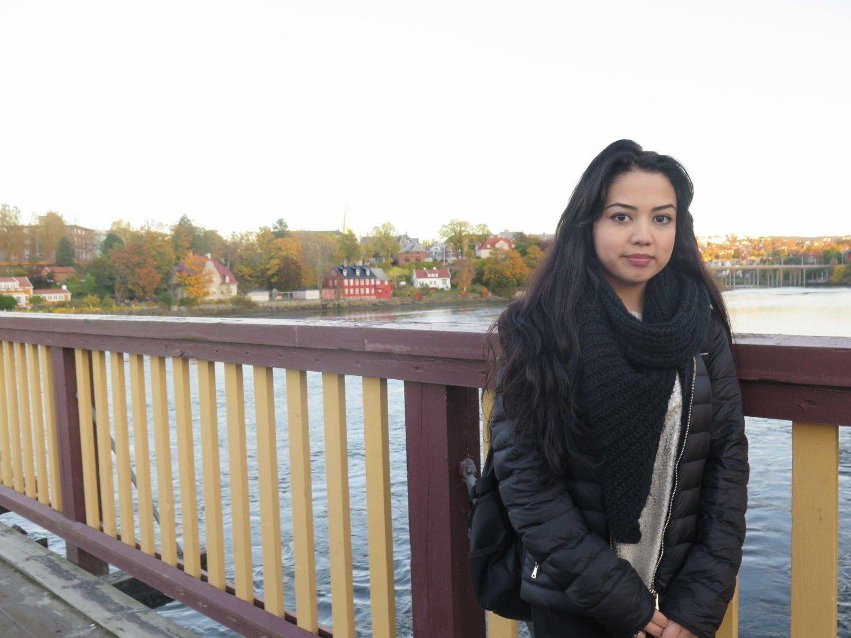HJEM: Taibeh Abbasi og hennes to søsken kom tilbake til Norge tirsdag. Bildet er fra 2017.