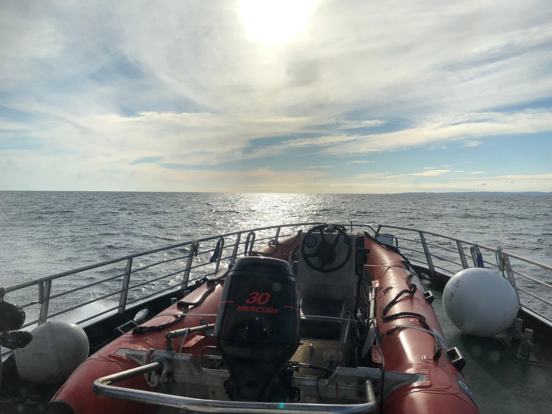 Redningsskøyta Kaptein Skaugen deltok i søket sammen med RS Bill, Bendt R. Rasmussen og Askeladden. Tre personer ble plukket opp av redningshelikoptre fra sjøen sør for Mandal. Der var et småfly med tre om bord som var savnet. Foto: Redningsskøyta Kaptein Skaugen, Redningsselskapet / NTB scanpix