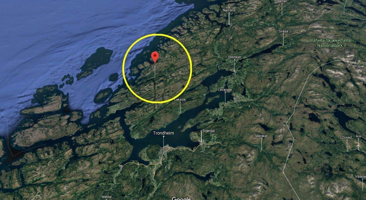 Leteaksjonen er savnet turgåer i Afjord, 86 kilometer nord for Trondheim.