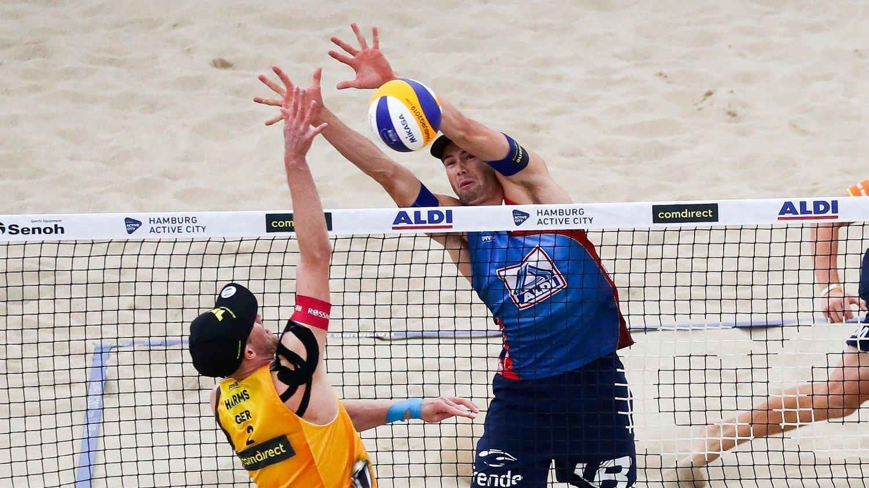 JR-NM: Anders Mol (bildet) deltar ikke i jr-NM i sandvolleyball. Det gjør imidlertid brødrene Adrian og Markus.