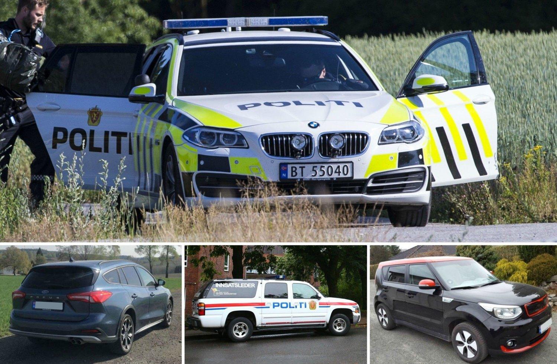 Politiet i Norge har over 80 ulike bilmodeller i stallen sin. Se oversikten over de 30 mest populære.